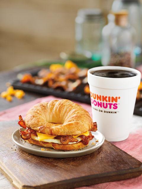 Sweet Black Pepper Bacon Breakfast Sandwich